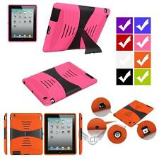Anti-Shock Rugged Impact Rigid Touch Heavy Duty Stand Case Cover For iPad 2/3/4