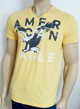 American Eagle Outfitters AEO Tee Mens Yellow V-Neck Cotton Blend T-Shirt NWT