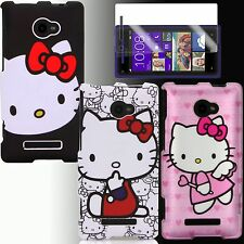 Case for HTC Windows Phone 8X Hello Kitty Cover Skin + Free Screen Protector