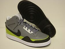 NEW Mens NIKE Alphaballer Mid 487858 001 Grey Cyper Green Sneakers Shoes NO LID