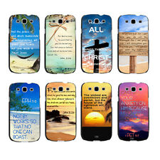 Christian Bible Verse Quote Beauty Beach Hard Case For Samsung Galaxy i9300/9500