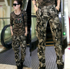 Womens Military Army Fashion camo Cargo Pocket Pants Leisure Trousers Outdoor