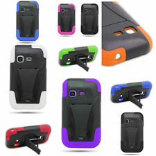 Hybrid Hard + Silicone Stand Cover Case For Samsung S390G Freeform M T189N