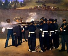 THE EXECUTION OF EMPEROR MAXIMILIAN MEXICO 1867 PAINTING BY MANET REPRO