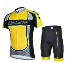 New Cycling Bike Clothing Bicycle Wear Suit Short Sleeve Jersey + Shorts S-3XL