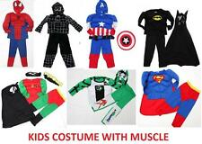 NEW Size 3~8 MUSCLE COSTUME KID BOYS FANCY PARTY TOY DRESS UP SUPERHERO TOP MASK