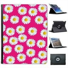 Pink with Lovely Dainty White Daisies Folio Leather Case For iPad 2, 3 & 4