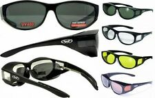 Escort Motorcycle Safety Sunglasses FIT OVER PRESCRIPTION RX GLASSES Fitover