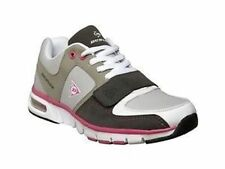 Ladies Shoes Dunlop Runner/Sneaker Lace up White/Grey/Pink Size US6-US10 New