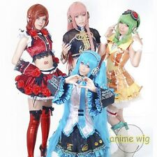 New Vocaloid Hatsune Miku Show Anime Long Cosplay Party Hair wig + Free UK