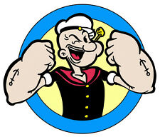 "5.5-9.5""  POPEYE THE SAILOR MAN  CHARACTER  WALL SAFE STICKER  BORDER CUT OUT"