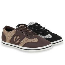 Damen Stylish Trainers Sneakers Lace Up Casual Shoes Prints 72459