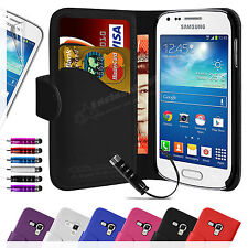 Real Leather Flip Wallet Case Cover For SAMSUNG Galaxy Trend Plus S7580