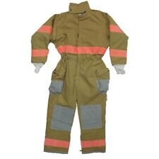 Coverall, GI Firefighter, w Reflective Stripes, Tan