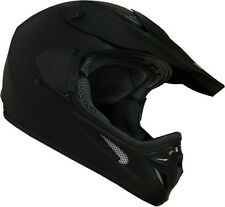Adult Flat Matte Black Dirt Bike ATV Motocross MX Helmet Off-Road~S M L XL XXL