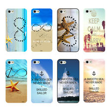Summer Tropical Starfish Beach Palm Trees Scene Hard Case For iPhone4 4s 5 5s 5c