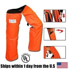 Zipper Style Chainsaw Chaps Protective Pants Safety Orange Works WIth Stihl Echo