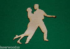 Swing Dancers Unfinished Flat Wood Shapes Cut Outs DC395 Variety Szs Crafts