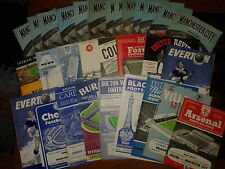 Manchester City HOME & AWAY programmes 1961/62 FREE P&P UK Choose from list