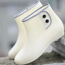 Rain Boots Female's Short Waterproof Shoes Women Girls Rubber Sole Design XWX476
