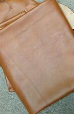 Leather Cow Hide Hides Upholstery Fabric C10 Bedford Cognac Brown Italian