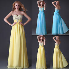 ❤BIG DEAL❤Beadings Empire Formal Evening Bridesmaids Prom Homecoming Gown Dress