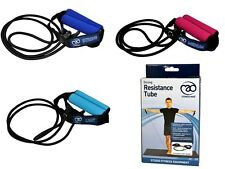 QUALITY RESISTANCE 1.3M TUBE BAND FITNESS MAD GYM EXERCISE WORKOUT & USER GUIDE