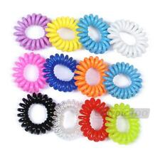 2/5pcs Telephone Line Hair Band Ring Ties Rope Ponytail Holder Elastic 11 Colors