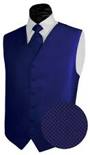 New Men's Geo Tuxedo Vest Suit Vest Tie and Pocket Square Set All Sizes & Colors