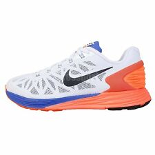 Nike Lunarglide 6 GS VI White Orange Blue Youth Girls Boys Jogging Running Shoes