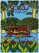 5107.Gemas.cuban documentary.man.woman in garden.POSTER.decor Home Office art