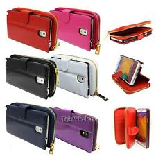 Patent PU Leather Zipper Purse Wallet Card Case Cover For Samsung Galaxy Note 3