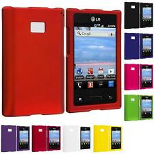 Color Hard Rubberized Case Cover for LG Optimus Dynamic L38C Straight Talk Phone