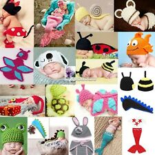 Newborn Boy Girl Baby Crochet Knit Costume Photography Photo Prop Hat Outfit SH