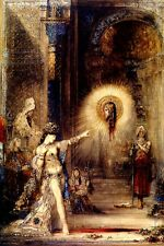 THE APPARITION SALOME DANCE HEAD JOHN BAPTIST PAINTING BY GUSTAVE MOREAU REPRO