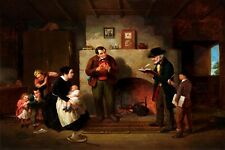 TAKING THE CENSUS 1854 COUNT AMERICAN PAINTING BY FRANCIS WILLIAM EDMONDS REPRO