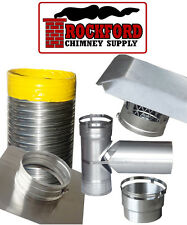 6 in. Smooth Wall Chimney Liner Kit with Rain Cap & Top Plate .013 Thickness