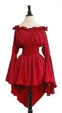 Q&I Renaissance Medieval Costume Mythic Blouse Ruffled Neckline Sorceress' Cuff