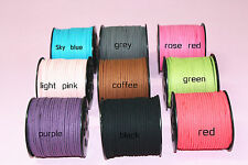 hot 18 COLORS 3mm Faux Suede Cord Leather Lace Jewelry Making Beading Thread