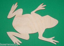 Frog Unfinished Flat Wood Shape Cut Out Variety Sizes F142 Laser Crafts
