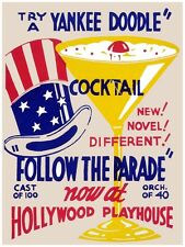 5630.Yankee doodle cocktail.follow the parade.drinks.POSTER. Home Office decor