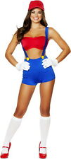 Sexy Super Mario Bros Video Game Vixen Halloween Costume Outfit Adult Women