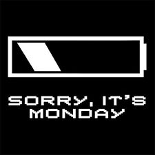 SORRY IT'S MONDAY (job worker clerk humor employee officer work college) T-SHIRT
