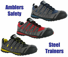 New Mens Unisex Amblers Composite Safety Toe Cap Safety Shoes Trainers Size 3-13