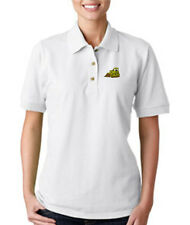 BULLDOZER CONSTRUCTION Embroidery Embroidered Lady Woman Polo Shirt