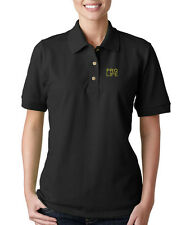 PRO LIFE GOD JESUS Embroidery Embroidered Lady Woman Polo Shirt
