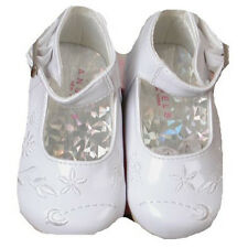 Chic Unique Angels Fancy White Patent Baby Girl Dress Christening Wedding Shoes