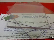 3MM THICK CLEAR RIGID SHEET POLYCARBONATE VIRTUALLY UNBREAKABLE PLASTIC SHEETS