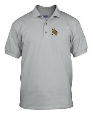 MULE HEAD WESTERN Embroidery Embroidered Unisex Adult Golf Polo Shirt