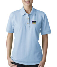 EL SALVADOR FLAG COUNTRY Embroidery Embroidered Lady Woman Polo Shirt